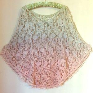 Boho Pastel Ombré Crochet Vest Poncho Festival 🌼